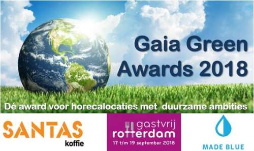 Aanmelden voor de Gaia Green Awards - 15 januari t/m 15 april 2018